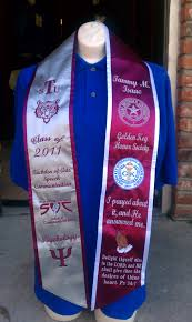graduation stole idea found on hbcu graduation stoles website