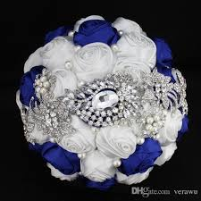 wedding flowers blue and white royal blue and white wedding bouquets wedding image idea just