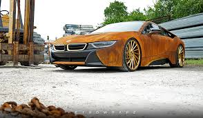 Bmw I8 Wrapped - rust wrapped bmw i8 gets old fast motor trend