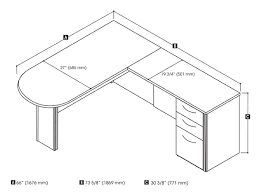 L Shaped Desk Dimensions L Shaped Office Desk Dimensions Home Design Ideas And Pictures