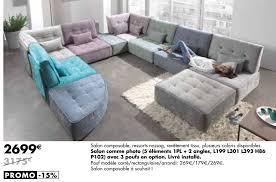 lambermont canapé meubles lambermont promotion salon comme photo 5 éléments 1pl 2