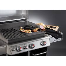 Cooktop With Griddle And Grill Amazon Com Weber 7566 Porcelain Enameled Cast Iron Grill Griddle
