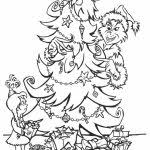 free printable grinch coloring pages for kids in grinch color