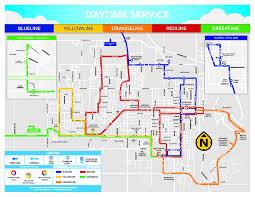 Bus Map Weekday Service Streamline Bus