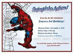 super cool invites spiderman decor pinterest spiderman