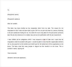 resignation letter in pdf sample letter resignation resign letter