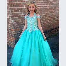 glitz pageant dresses halter flower girl dresses with beaded for 16 years pageant
