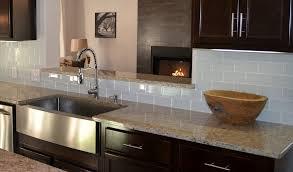 Graytaupe Subway Tile With Dark Cabinets - Kitchen backsplash with dark cabinets