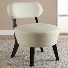 wood soft white leather accent chair by coaster 900296