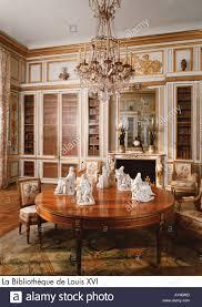 palace of versailles la bibliothèque de louis xvi stock photo