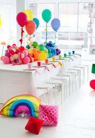 Balloon Decoration For Baby Shower A Rainbow Baby Shower And