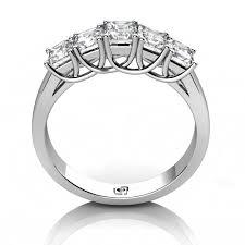 Princess Cut Wedding Ring by 14kt White Gold Five Stone Princess Cut U0027x U0027 Prong Wedding Band