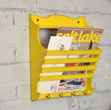 Wall Hanging Mail Organizer Handmade Wall Mounted Mail And Key Holder In Color Of Your