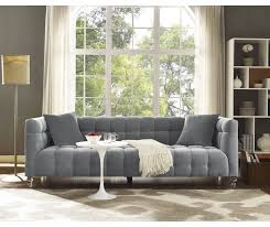 Grey Velvet Sofa by Bea Grey Velvet Sofa Tov S100 Tov Furniture