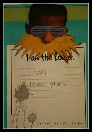 themed writing paper dr seuss author study week 1 learning with mrs parker i created a very simple lorax themed writing paper for them to use with stickers i found at michaels together we came up with suggestions to help our