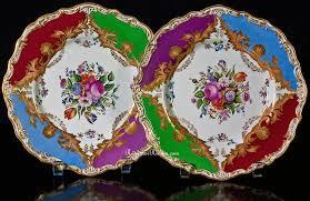 antique porcelain floral plates 1800s antique jewelry vintage