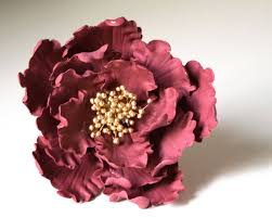 flower fondant cakes maroon peony ready to ship sugar flower for wedding cake