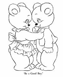 bluebonkers teddy bear coloring sheets mama baby boy bear