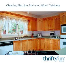 how to get smoke stains cabinets cleaning nicotine stains on wood cabinets thriftyfun