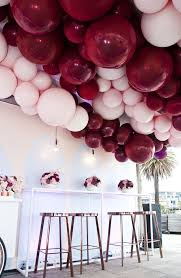 pink balloon filled first birthday balloons pinterest