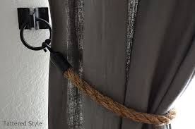 Curtain Rope Tie Backs Tattered Style Restoration Hardware Rope Tiebacks Diy