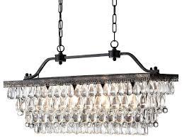 rectangular crystal chandelier lighting 40 rectangular dining room