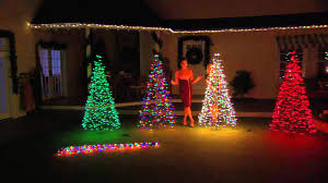 lighted outdoor tree decor