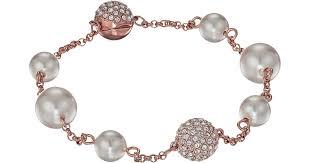pearl bracelet swarovski images Lyst swarovski remix collection mixed white crystal pearl jpeg