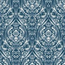 Peel And Stick Wallpaper by Shop Brewster Wallcovering Peel And Stick Indigo Vinyl Damask