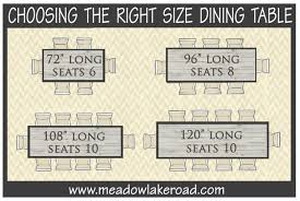 Dining Room Table Size For  Dining Room Incredible The Chair - Incredible dining table dimensions for 8 home