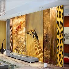 chambre la girafe abstrait photo papier peint sauvage afrique girafe murale