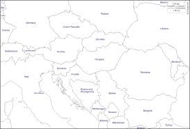 Blank Maps Of Europe by Danubian Europe Free Map Free Blank Map Free Outline Map Free