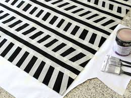 Jute And Sisal Rugs How To Paint A Design On A Low Pile Rug How Tos Diy