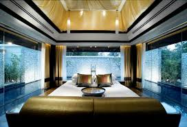 sensational bedroom decor surrounded by pool banyan tree resort
