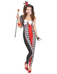 red black and white joker for woman vegaoo