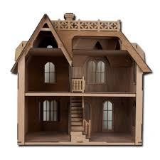 house kit amazon com greenleaf chantilly dollhouse kit laser cut toys u0026 games