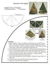 quilter u0027s fun christmas tree napkins