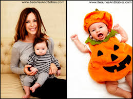 Boys Pumpkin Halloween Costume Happy Baby Boy Professional Pictures Los Angeles Baby Photographer