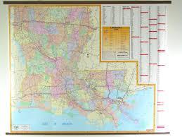 Map Louisiana by Louisiana Wall Map