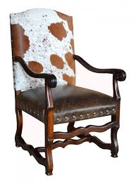 Leather Dining Chair With Arms Cowhide Furniture John Proffitt