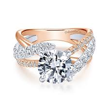 engagement ring gold free form engagement rings gabriel co