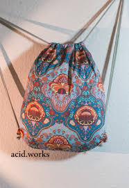 bags retro hippie ornaments handmade acid works