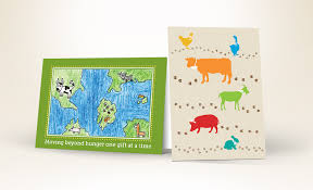 photo cards donation cards in honor for charity heifer international