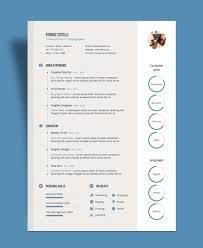 Profesional Resume Template Free Professional Resume Cv Template With Cover Letter