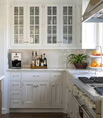 White Kitchen Cabinets With Glass Doors Glass Doors On Kitchen Cabinets Sustainablepals Org