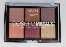 nyx cosmic metals shadow palette review u0026 swatches spring 2017
