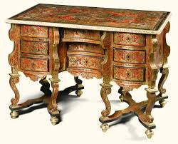 bureau boulle a tortoiseshell pewter and brass inlaid première partie boulle