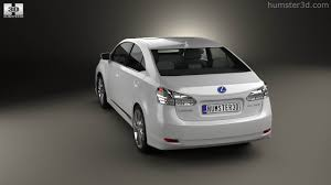 lexus hs hybrid 360 view of lexus hs 2014 3d model hum3d store