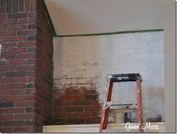 Brick Fireplace Paint Colors - gwen moss before and after my white chalk painted fireplace