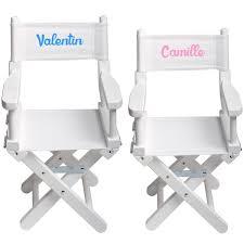 chaise metteur en chaise metteur en scène enfant personnalisée blanc blanche